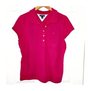 TOMMY HILFIGER Polo in Neon Pink